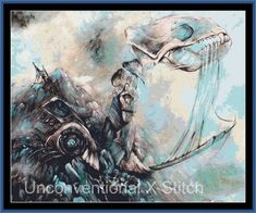 A Prophecy Unheeded Extract cross stitch pattern - modern counted cross stitch - Licensed Angela AK Westerman - skeleton by UnconventionalX on Etsy