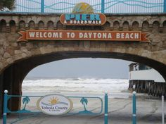 Daytona Beach ~ oh hey I was there! BIKE WEEK Had the best time ever! Check out the website to see Daytona Beach Boardwalk, Daytona Beach Bike Week, Daytona Beach Florida, Beach Sign Sayings, Beach Signs, Old Florida, Florida Vacation, Orlando Florida, Fort Lauderdale