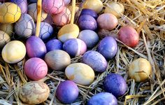 Naturally dyed Easter eggs from the Waldorf today e-newsletter