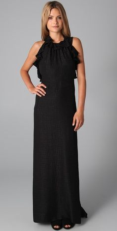 Milly    Chelsea Halter Gala Gown