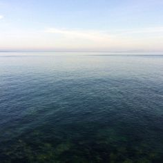 Calm sea. Photograph.