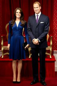 Duke and Duchess of Cambridge became the latest celebrities to be immortalized in wax at Madame Tussauds in London. The wax figures were unveiled on April 4, 2012. (Jonathan Short/AP Photo)