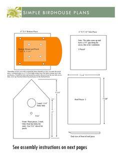 Birdhouse Plans by TThealer56.deviantart.com on @DeviantArt