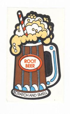 Vintage 80's Mello Smellos Scratch and Sniff Sticker ROOT BEER