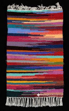 Your Daily Dose of Inspiration! Handwoven runner by Lorelei Loveless. Weaving Projects, Weaving Art, Loom Weaving, Tapestry Weaving, Hand Weaving, Crochet Carpet, Crochet Yarn, Blanket On Wall, Afghan Crochet Patterns