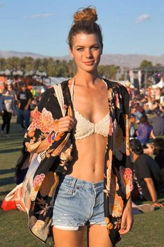 Dare to bare with this bikini top style look - #festival #style #fashion