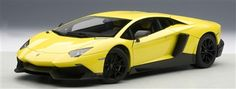 The 2014 Lamborghini Aventador LP720-4 50th Anniversary, in 1:18 scale diecast by Autoart.  Lamborghini's latest supercar in its most potent form. Available now at www.carriagehousemodels.com.