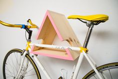 Triangular Bike Wall Mount Pink by ArcticUnion on Etsy