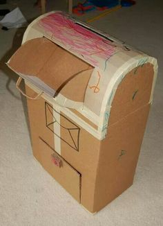 I've made several fun toys and activities for kids using cardboard but nothing like these amazing projects. You'll be blown away by these 57 things to make using a cardboard box and cardboard tube. They are DIY activities, games, and imagination building… Kids Crafts, Toddler Crafts, Projects For Kids, Diy For Kids, Diy Karton, Carton Diy, Indoor Crafts, Cardboard Toys, Cardboard Playhouse