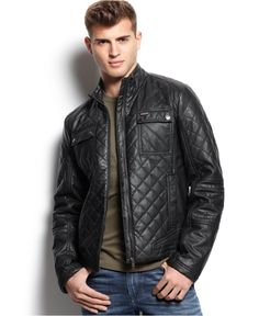 Got this today & I love it!  GUESS Diamond Quilted Jacket - Coats & Jackets - Men - Macy's