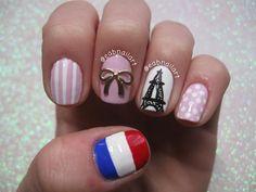 Paris Themed Nail Art Tutorial #prayforparis