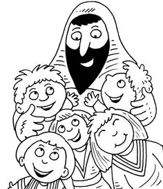 1000 images about jesus blessing the children on for Jesus blesses the children coloring page