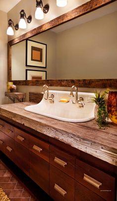 SOD 2013 Rec room Bathroom - Rustic - Bathroom - Images by Garrison Hullinger Int Design | Wayfair