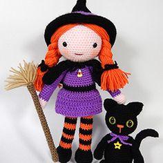 Morgana and Soots amigurumi crochet pattern by Janine Holmes at Moji-Moji Design