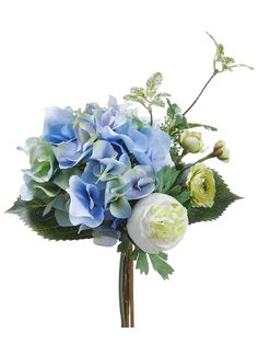 http://www.afloral.com/Silk-Flowers-Artificial-Flowers-Fake-Flowers/Hydrangeas/Hydrangea-and-Ranunculus-Wedding-Bouquet-in-Blue-and-Cream    top of the columns