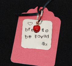 """Bred to be loved"" Pet Bling by FancyGirlDesigns on Etsy, $8.00"