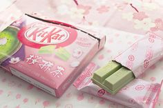 green tea kit kats. only in japan :)