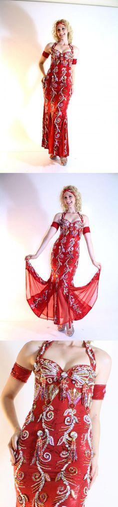Red cabaret dress