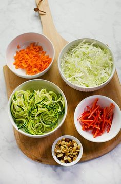 Mostly Raw Pad Thai Spring Rolls