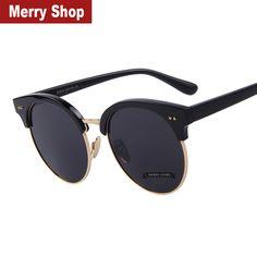 Encontrar Más Gafas de Sol Información acerca de 2015 nueva corea moda mujeres Round Sunglasses grandes del marco del ojo de gato espejo gafas de sol gafas de sol UV400, alta calidad espejo de bronce, China espejo de tocador Proveedores, barato espejo clave de Merry Shop en Aliexpress.com
