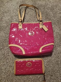 eda10c78dbfb Pink coach purse and wallet set  fashion  clothing  shoes  accessories   womensbagshandbags