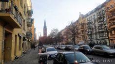 Friedrichshain, Blick von der Bänschstrasse auf die Samariterkirche