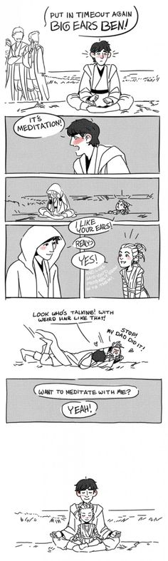 If Ben and Rey had been training under Luke... - 9GAG-->>I like to think that Rey is Luke's adopted daughter, ok.