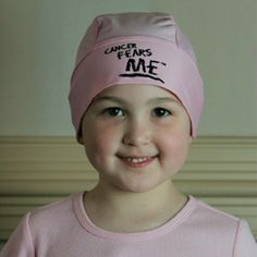 Cancer Fears ME chemo caps in black and pink! Great for all ages!!