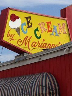 Ice Cream sign in Santa Cruz, CA.