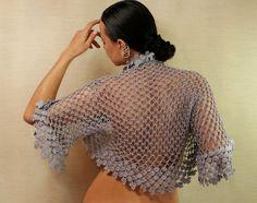 Let's Stay Together / Crochet Shrug Wedding Bolero by lilithist