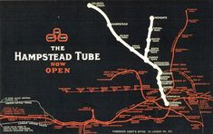 This advertisement dates from June 1907 and promotes the opening of the 'Hampstead Tube' which now forms parts of the Northern line Northern Line, City Road, Camden Town, London Transport, London Underground, The World's Greatest, Tour Guide, Dates, Tube
