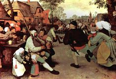 This painting was created to show secularism rather than a simple peasant life.  Artist: Pieter Bruegal Location: Kunsthistorisches Museum, Vienna Dimensions: 45 in × 65 in Created: 1567 Period: Italian