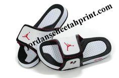4d17142759e6 Cheap Air Jordans 10 Massage Slippers Black White Red