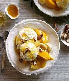 Mango sundaes with salted-caramel ice-cream recipe | Ice-cream recipe - Gourmet Traveller