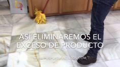 Renovar mármol desgastado en un PLIS PLAS - sin necesidad de pulirlo - YouTube