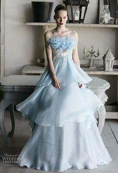Romantic Blue Bridal Dresses, your Dreamed Wedding Gown Ice Blue Weddings, Blue Wedding Gowns, Blue Bridal, Bridal Dresses, Dress Wedding, Prom Dress, Mode Pastel, Pastel Blue, Frozen Wedding