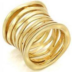 $7.30 - Ladys Rings Brass Gold Plating - Jewelry Wholesale - Wholesalerz.com