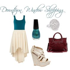 """Downtown Window Shopping"" by christinamartinaxoxo on Polyvore"