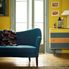 Bleu canard & jaune