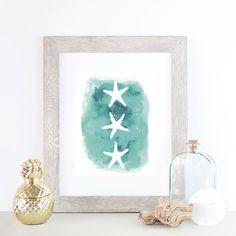 Beach Print Starfish Print Beach Decor Printable Art Sea