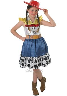 costume da Jessie, ufficiale Disney Toy Story, con gonna, per rag Coral Dress Wedding, Dark Red Bridesmaid Dresses, Jessie Costumes, Baby Costumes, Jessie Fancy Dress, Ariel Halloween Costume, Jessie Toy Story, Red Evening Gowns, Cute Lazy Outfits