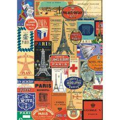 Paris-France-Travel-Stickers-Vintage-Style-Poster-Decorative-Paper-Ephemera