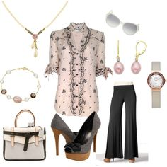 Great Look for Work or Dressy Occassion {These shoes are Jessica Simpson.} It's all in the details., created by stigro