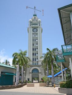 Minor light of Oahu - Aloha Tower Lighthouse, Hawaii at Lighthousefriends.com