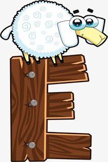 Escuela infantil castillo de Blanca: ALFABETO: LA GRANJA Animal Alphabet, Animal Letters, Baby Design, Alfabeto Animal, Alphabet Templates, Cartoon Kunst, Letter E, Wooden Animals, Alphabet And Numbers
