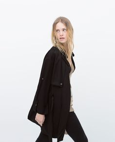 ZARA - WOMAN - TRENCHCOAT WITH ROLL-UP CUFF