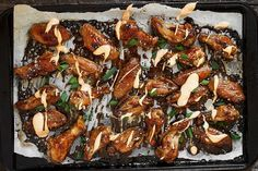 Teriyaki Chicken Wings with Sriracha Cream