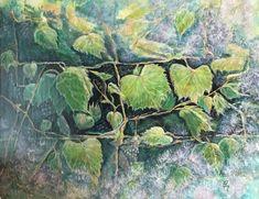 Oriental, Plant Leaves, Plants, Painting, Vineyard, Toile, Painting Art, Paintings, Plant