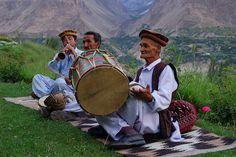 Hunza musicians, Pakistan.