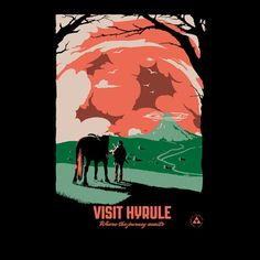 #Nintendo: Legend of #Zelda: Hyrule travel poster t-shirt.
